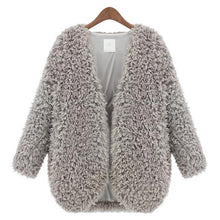 2016 Popular Lambs wool Women Short Coat Warm and Comfortable V-Neck Jacket Rice White/Black/Gray