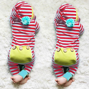 Stripe Baby Rompers Long Sleeve Baby Boy Clothing Children Rompers Autumn Cotton Infant Clothing Newborn Baby Girl Clothes 6-24M