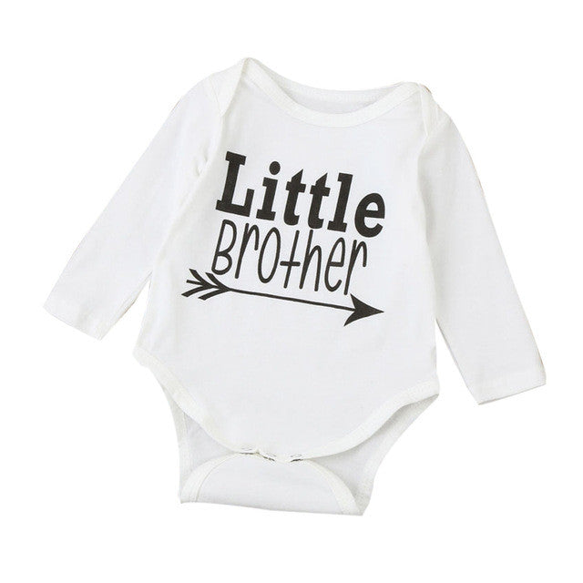 2017 Infant Baby Boy Girls Warm Clothes Long Sleeve Baby Rompers Jumpsuit Letters Baby Autumn Winter Clothes 3-18 Months