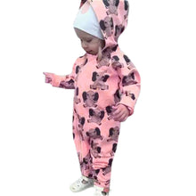 2017 baby elephant Jumpsuit Hooded cartoon printed newborn baby boy ropmer high quality baby girls boys clothes Romper Outfits