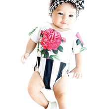 2017 Baby Girl Rompers Summer Girls Clothing Flower Newborn Baby Clothes Cute Short Sleeve Baby Jumpsuits Infant Girls Clothing