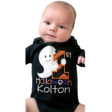 2017 Autumn Black Infant Baby Boys Girls Halloween Costume Letter Long Sleeve Romper Jumpsuit Clothes