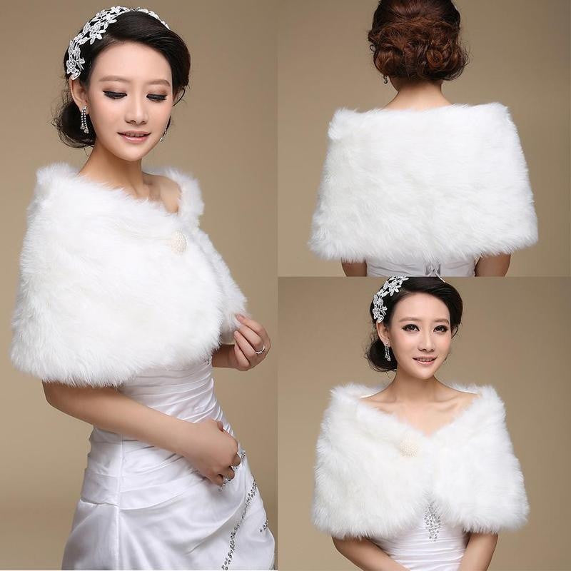 Bride Wedding Dress Wool Shawl Plush Warm Wedding Dress Shawl