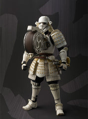 An action figure of Taiko yaku Storm Trooper with a drum