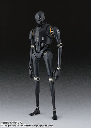 An black action figure of K-2SO droid standing