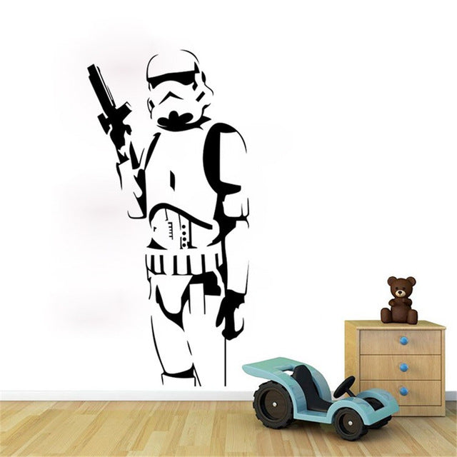 Stormtrooper character Wall Sticker 55.5*115cm
