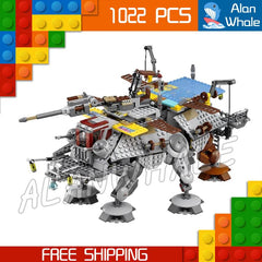 1022pcs Star Wars Rebels Captain Rex's AT-TE