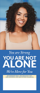 You Are Not Alone (African American Cover) - General Crisis Pregnancy Brochure (Set of 50)