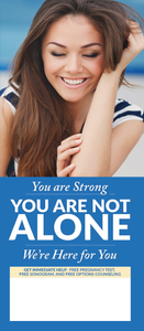 You Are Not Alone (English) - General Crisis Pregnancy Brochure (Set of 50)