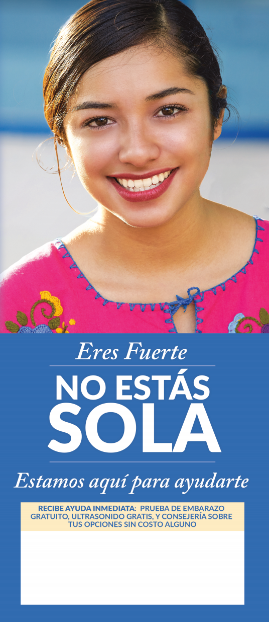 You Are Not Alone/No Estás Sola (Spanish) - General Crisis Pregnancy Brochure (Set of 50)