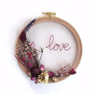 Flower Hoops / Love