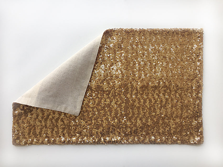 Pillow Cover / Gold Sequin