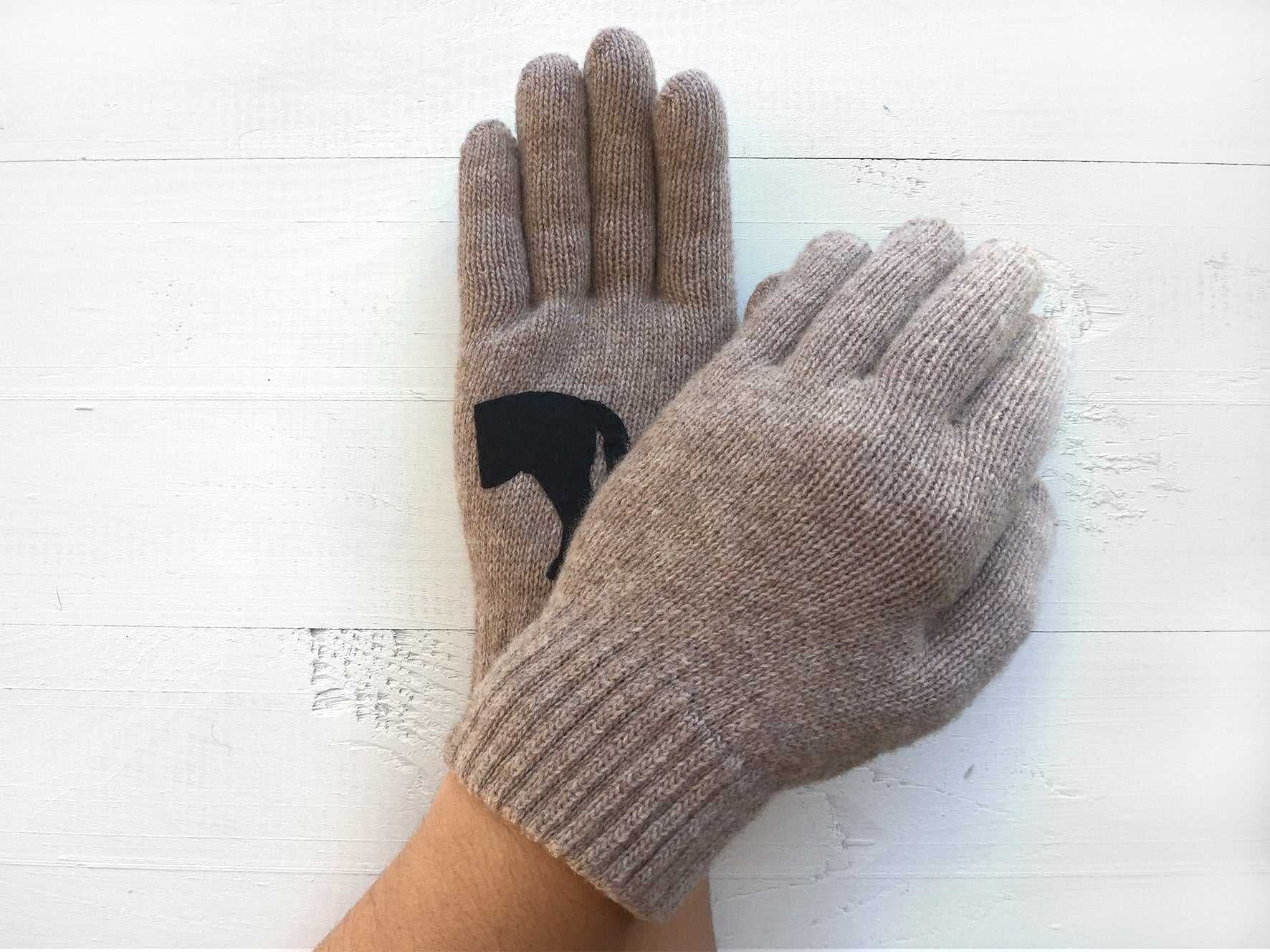 Horse Gloves / Beige