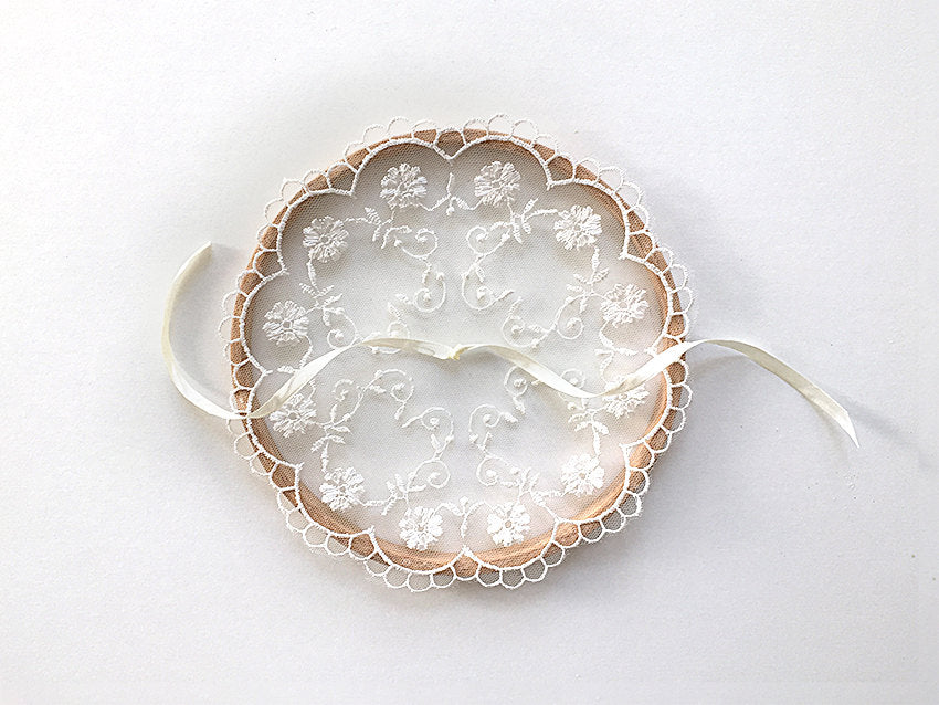 Ring Bearer Pillow / Hoop / Flower Lace