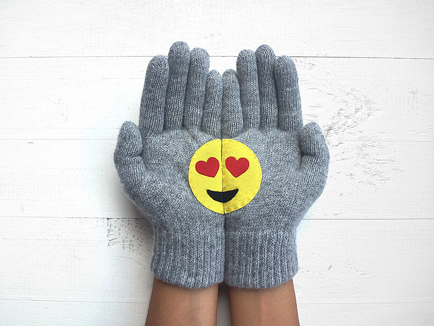 Emoji Gloves / Heart Eyes
