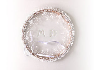 Ring Bearer Pillow / Hoop / Monogram