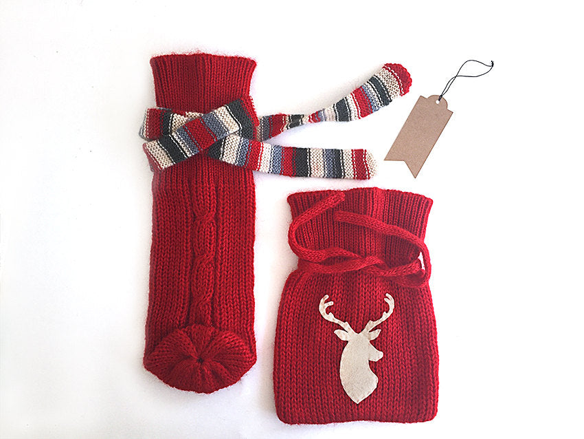 Bottle Cover & Gift Pouch / Deer