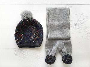 Kids Scarf & Beanies / Gray