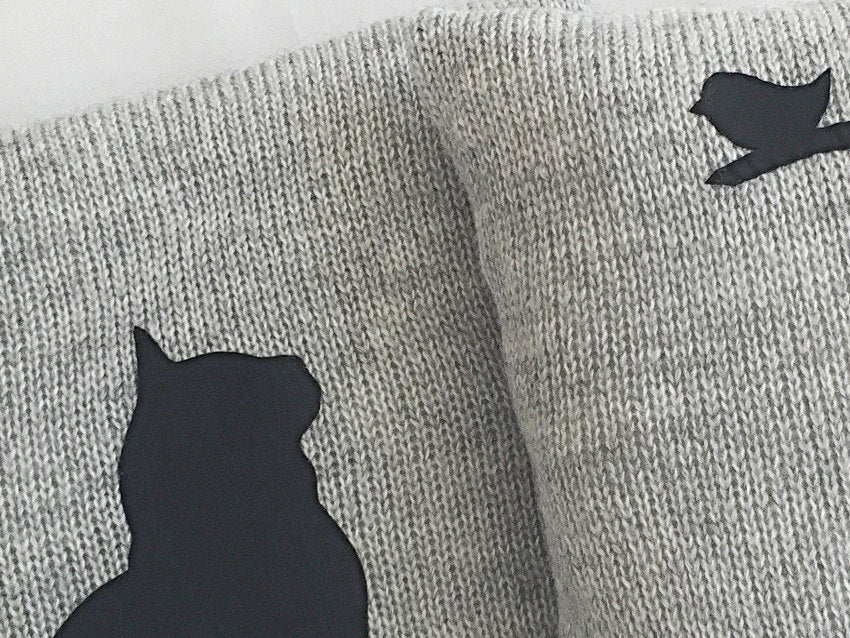 Pillow Covers / Cat & Bird / Set of 2