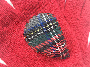 Heart Gloves / Red / Plaid