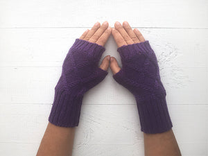 Beanie & Hand Warmers / Purple