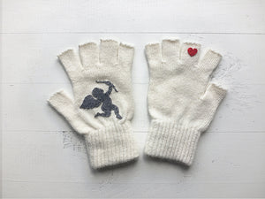 Cupid Gloves / White