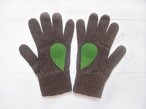 Wool Gloves with Heart