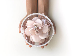 Ring Bearer Pillow / Hoop / Pink Flower