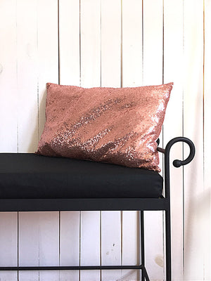Pillow Cover / Pink Sequin