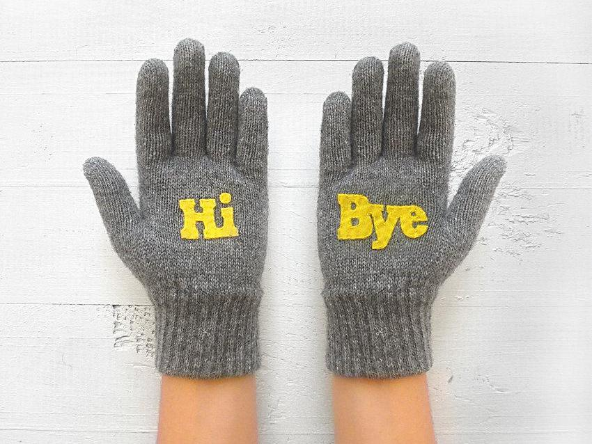 Hi Bye Gloves / Gray