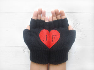 Monogram Gloves / Black