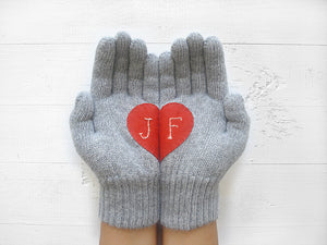 Monogram Gloves / Gray
