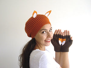 Fox Beanie & Fox Gloves