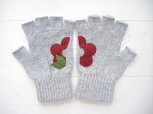 Flower Gloves / Grey