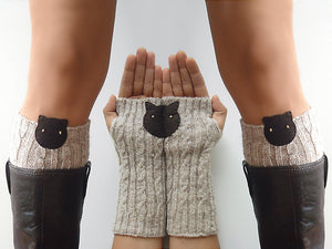 Boot Cuffs & Hand Warmers / Cat
