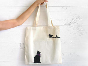 Tote Bag / Cat & Bird