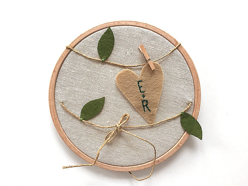 Ring Bearer Pillow / Hoop / Leaf