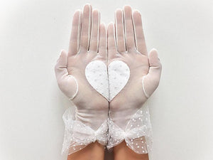 Bridal Gloves / Heart / Dot