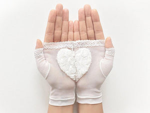 Bridal Gloves / Heart / Fingerless