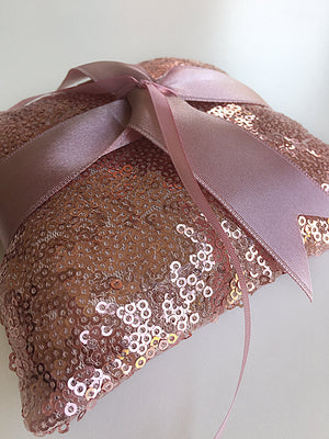Ring Bearer Pillow / Rose Sequin