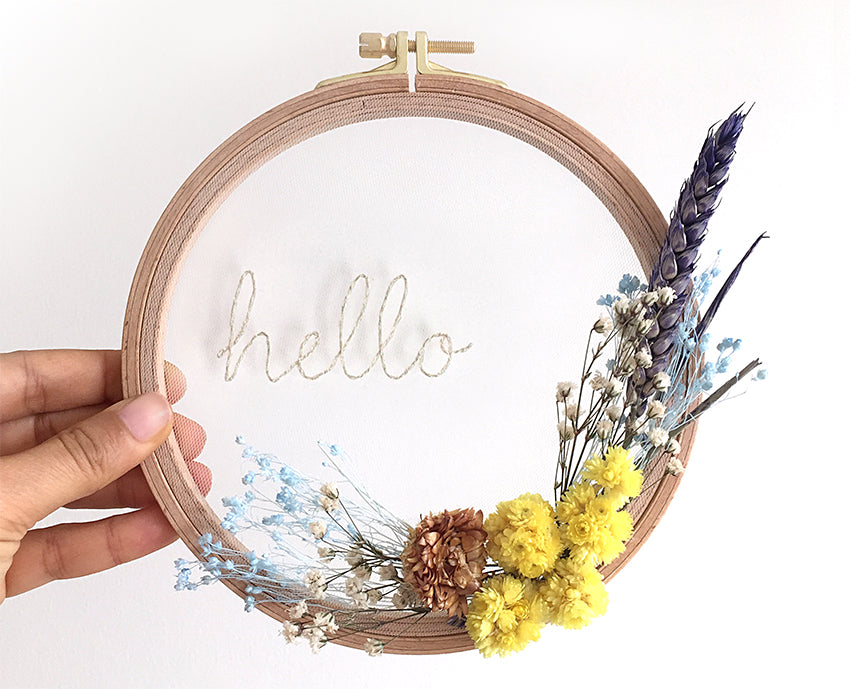 Flower Hoops / Hello