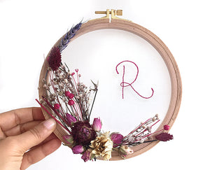Flower Hoops / Initials