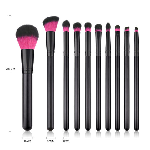 Brochas de maquillaje set 10 pcs