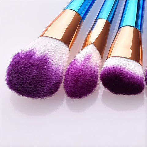 Brochas de maquillaje set 7 pcs unicornio