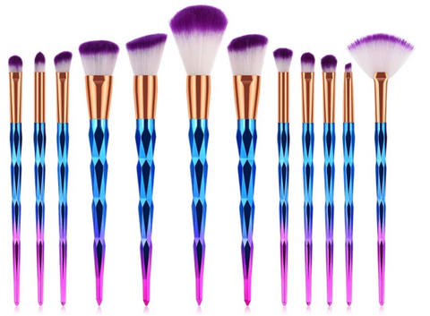 Brochas de maquillaje set 12 pcs Crystal