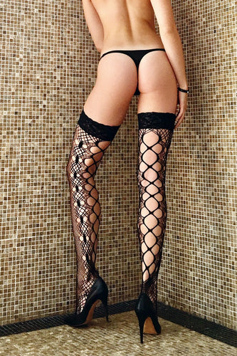 Thigh High Crocheted Stockings Examiner Thigh Highs