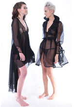 Midnight Silk Organza Trench - Lingerie, Tights, Stocking, Leggings, gigi*k