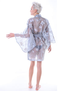 Silk Organza Kimono Robe - Lingerie, Tights, Stocking, Leggings, gigi*k