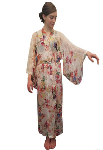 Silk Long Kimono Robe - Lingerie, Tights, Stocking, Leggings, gigi*k
