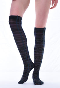 Check Over Knee Socks